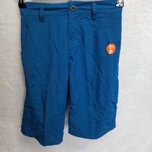 White Sierra Boy Explorer Shorts Blue Small